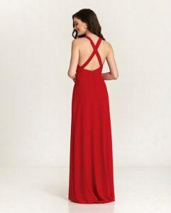 vestido largo ursula rojo espalda